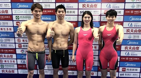 破世界纪录为共和国庆生!后孙杨时代,他们扛起中国游泳的大旗