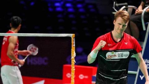 丹麦羽毛球公开赛:安东森、马林挺进决赛