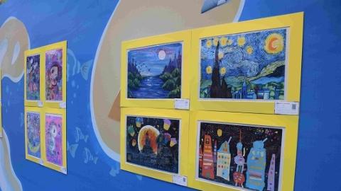 上海浦滨儿童医院举办公益画展 助力儿童友好社区建设