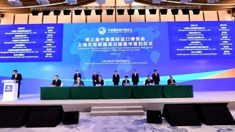 13家企业集团16个项目 上海市交易团国资分团集中签约