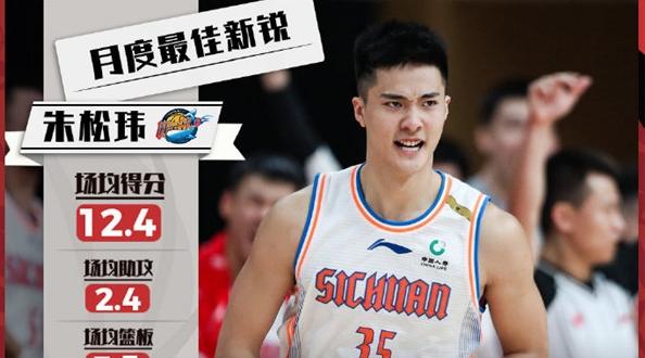 朱松玮当选CBA首月最佳星锐球员!他和姚明有同一个启蒙教练