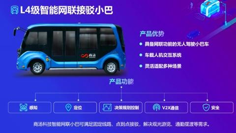"""""""聪明""""的车驶上""""智慧""""的路 商汤科技发布L4级接驳小巴和智能路侧感知解决方案"""