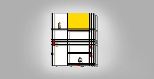 根据蒙德里安作品创作的立体艺术装置_副本.jpg
