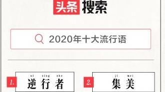 头条搜索发布2020年十大流行语,逆行者、集美、后浪列前三