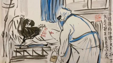 九张手绘漫画 讲述一名护士在武汉前线的故事