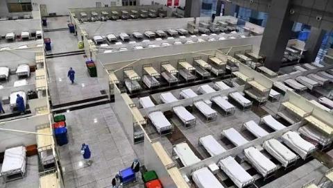 """昨晚,武汉客厅""""方舱医院""""正式收治第一批患者"""
