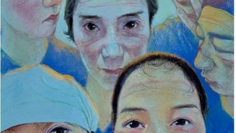 宣傳畫《光明天使 · 致敬奮戰在疫情第一線的醫護人員》創作尚未完成記
