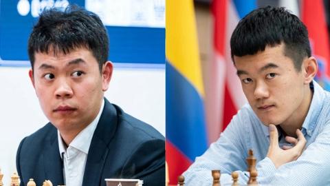國際象棋世界冠軍候選人備戰網絡熱身賽落幕,丁立人、韋奕分獲A、B組冠軍