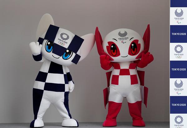 """2018年7月22日,东京奥组委召开发布会,正式公布奥运会和残奥会吉祥物的名称分别为""""Miraitowa""""(左)和""""Someity""""-新华社downLoad-20200325095233_副本.jpg"""