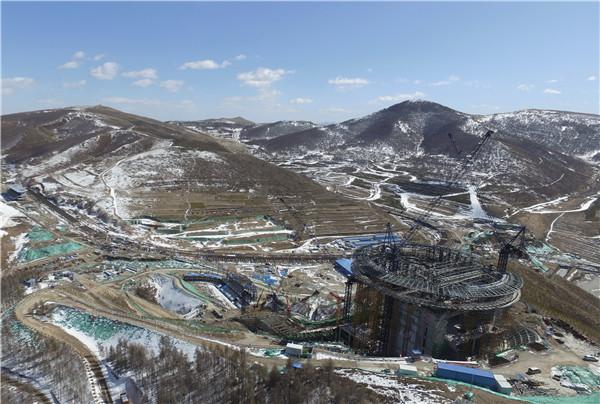 北京冬奥会张家口赛区多个项目建设正式复工 新华社图.jpg