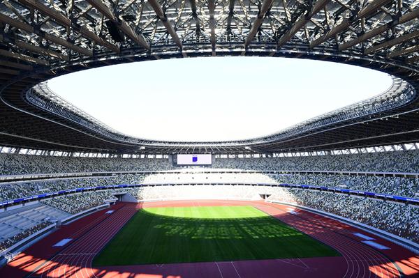 2019年12月15日拍摄的国立竞技场内景。当日,2020年东京奥运会和残奥会主场馆国立竞技场举办竣工仪式。-新华社downLoad-20200325093710_副本.jpg