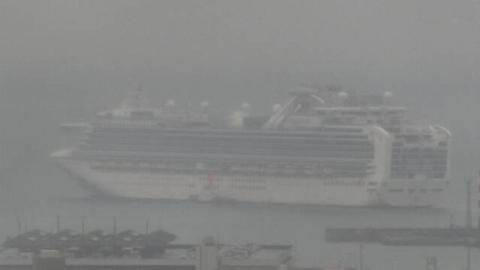 """确认逾700感染病例后""""钻石公主""""号邮轮驶离横滨港"""