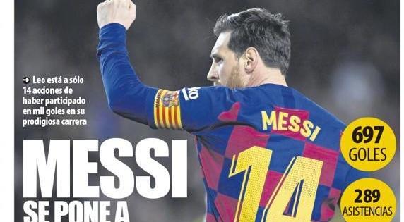 梅西本赛季有望成为现役首位进球+助攻达到1000的职业球员?