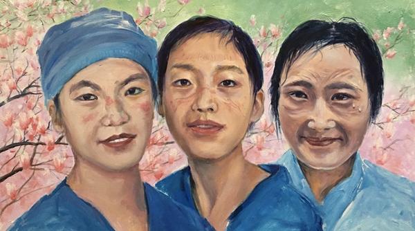 28位画家花3个月创作58幅油画,只为致敬最美逆行者