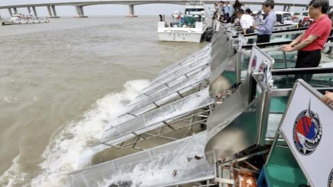今天,24尾中华鲟2000尾胭脂鱼放流长江口