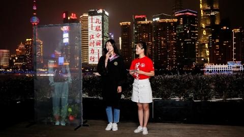 """""""让我点亮你的心愿"""" 上海财大为毕业生亮灯"""