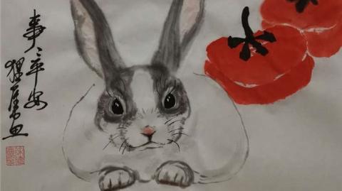 甜甜糯糯一团兔