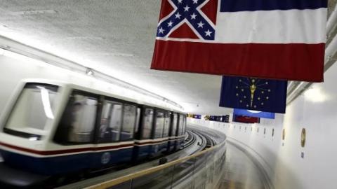 密西西比州弃用含邦联标志州旗