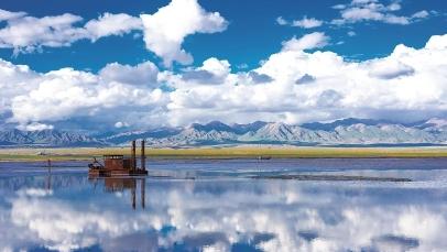 茶卡盐湖,云与水的幻美