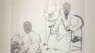 韩硕作品展昨天开幕:在人物画里读历史典故