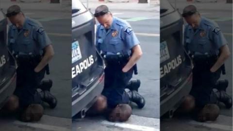 """美检察官寻求重判 """"跪杀""""黑人的警察"""