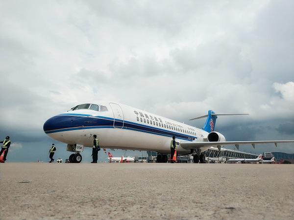 南航首架ARJ21飞机回家乡啦!开始执飞上海浦东-揭阳航线