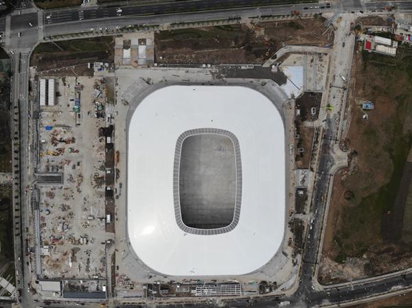 """从空中看,上海将添一只""""白瓷碗""""!浦东足球场明年4月正式竣工"""