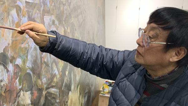 百年红色 艺路前行|油画名家俞晓夫:用画笔和历史瞬间对话