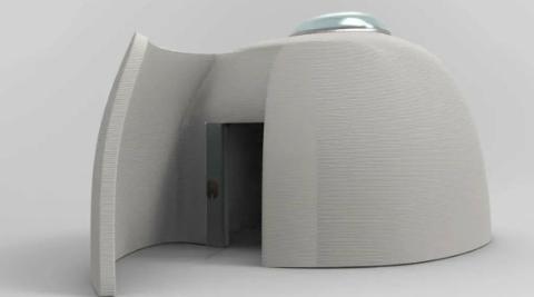 """加紧""""打印""""中!申城首个混凝土3D打印书屋将在本月中下旬开放"""