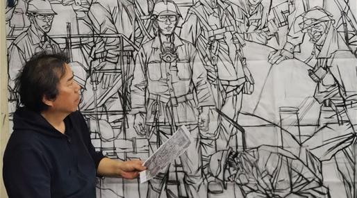 百年红色 艺路前行丨丁小方:从历史豪杰画到新时代工人