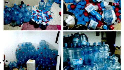 制售假冒品牌桶装水 亲兄弟被公安机关抓获