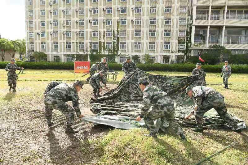 上海警备区组织国有企业民兵综合应急连拉动检验