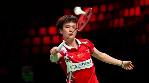 尤伯杯中国队5比0轻取丹麦队,获小组第一
