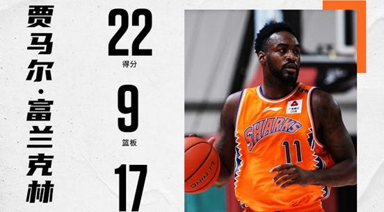 一个人打爆一支球队!上海男篮的新外援富兰克林也太好用了