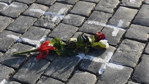 捷克纪念新冠疫情暴发一年来死去的感染者