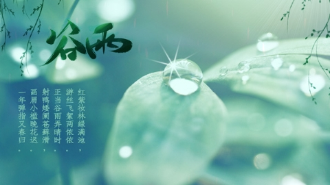 节气 谷雨,春天三谢幕