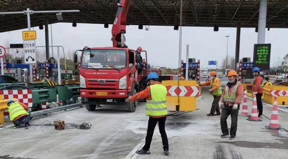 保障花博会 G40长江隧桥改造五月中旬完工
