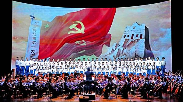 沪上青年学子共唱《长征组歌》,他们说最大的收获是……