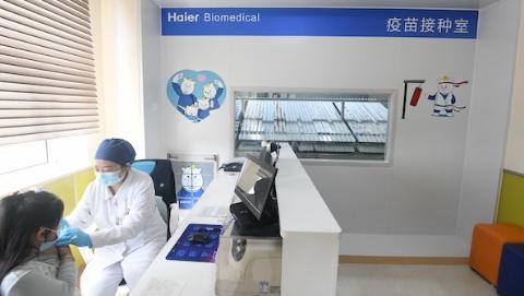 """上海这个社区疫苗由智能冷库自动""""发货"""",小朋友惊叹""""真有趣""""!"""