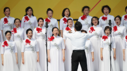 """第一届""""经典947广播合唱节""""今天开幕并举行合唱团展演活动"""