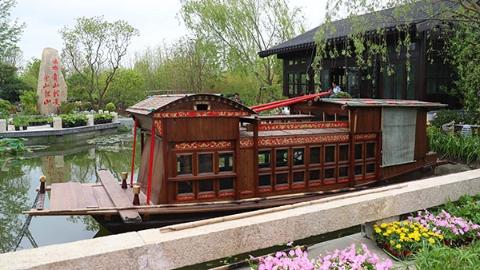 第十届中国花博会开幕在即 中国红成花博园最美底色