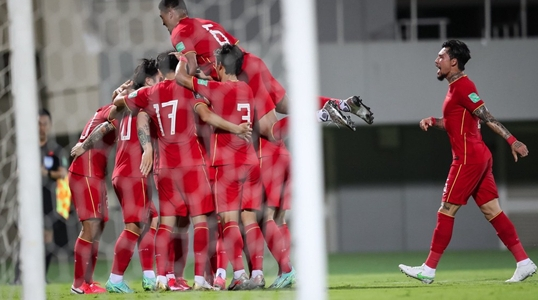 """12强赛我们来了!""""核武7""""发威国足3-1叙利亚"""
