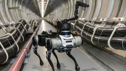 """国内首款地下智能巡检四足机器人""""黑背""""将亮相人工智能大会"""