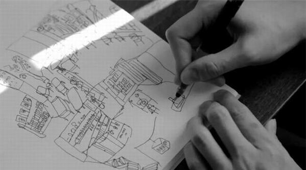 """走进诗人赵丽宏的世界,看看""""写不下去就画几笔""""的他在手稿上画了啥?"""
