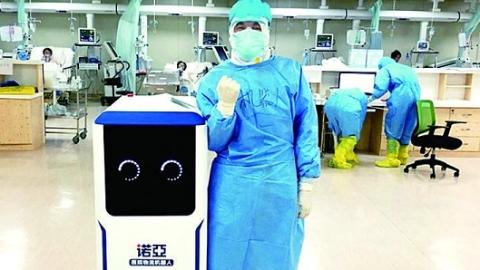 """医院物流机器人开启""""无人驾驶3.0""""时代 """"立体眼""""让它无惧复杂场景"""