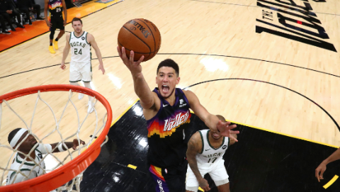 NBA总决赛雄鹿客场击败太阳拿到冠军点