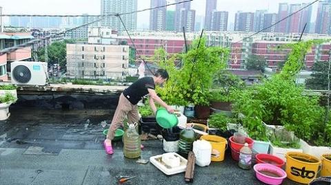 记者直击雨后郑州:街头手机免费充电,菜贩尽力不涨价,拖家带口排队洗浴