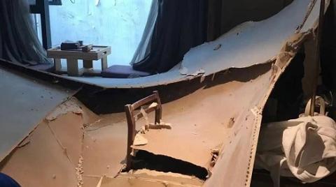 夜惊魂!沪上闹市酒店,客房天花板猛然坍塌!
