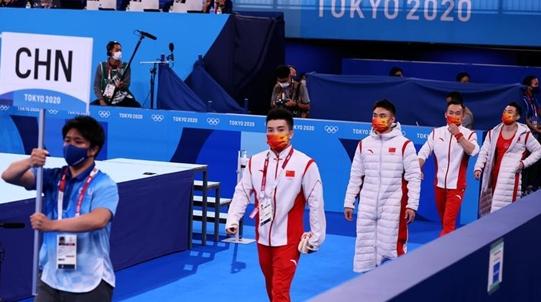 中国队获东京奥运体操男团铜牌