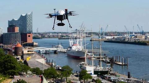 德国首个无人机交通系统正在汉堡港进行测试